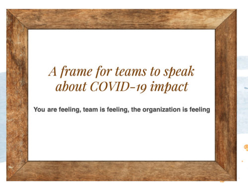 A frame for teams to speak about COVID-19 impact